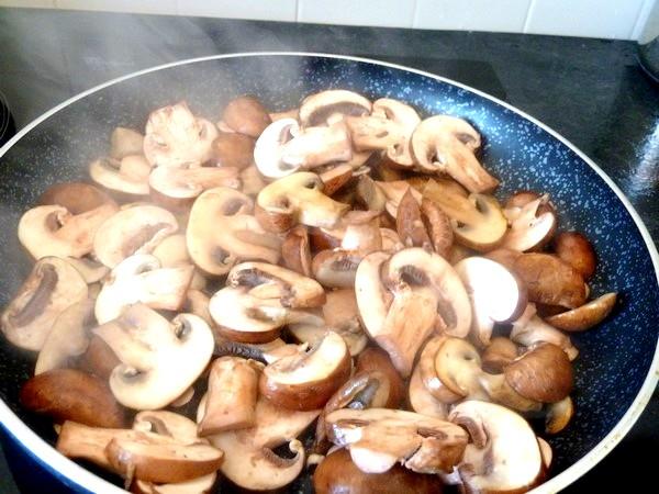 pave de patates aux champignons poeles