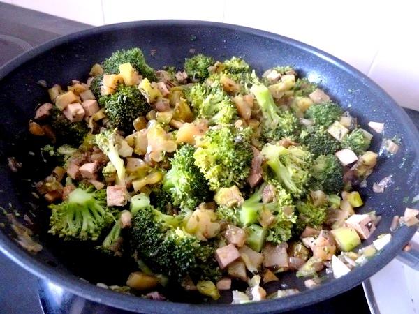 brocolis au tofu fume fin cuisson courte