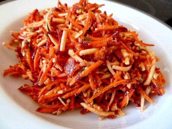 crudite carottes rouge noix de coco assiette
