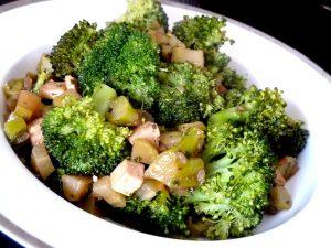 brocolis au tofu fume dresser