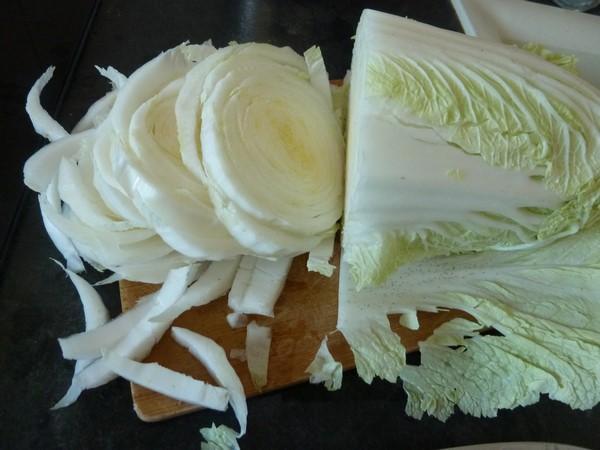chou chinois au tofu jus emincer