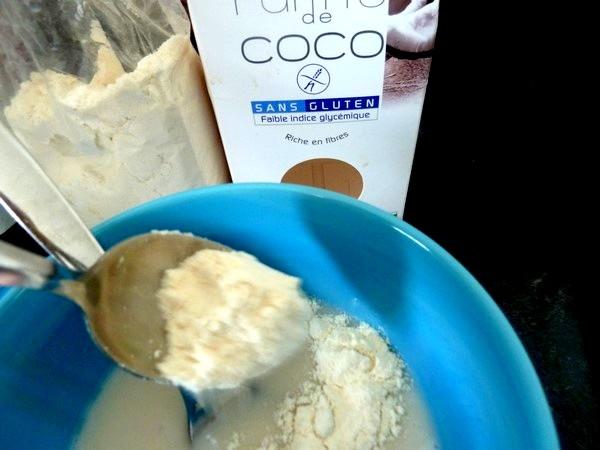 ganache choco farine coco