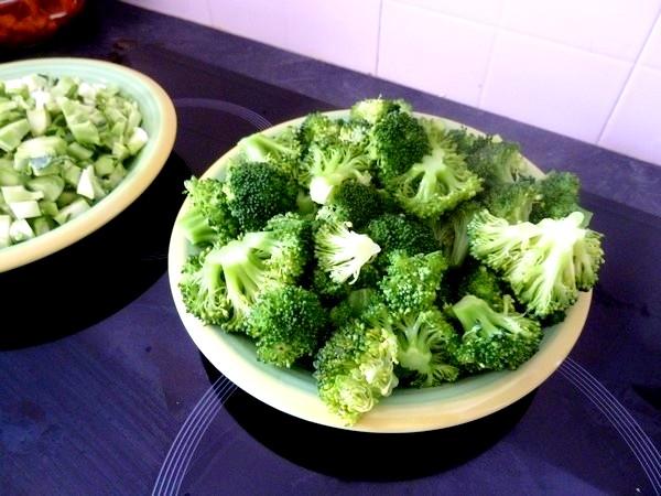 brocolis au tofu fume refroidir