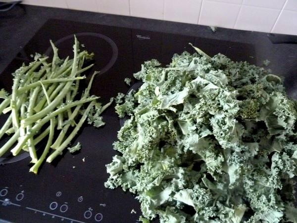 pates sans gluten au chou kale