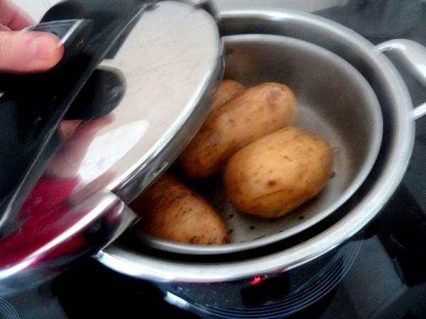 tourtons pommes de terre olives cuisson vapeur
