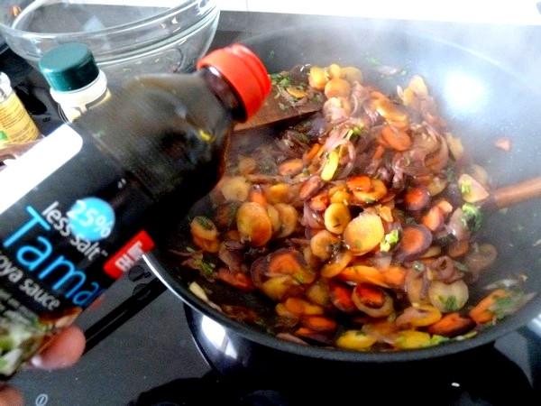 carottes et panisse dorees tamari