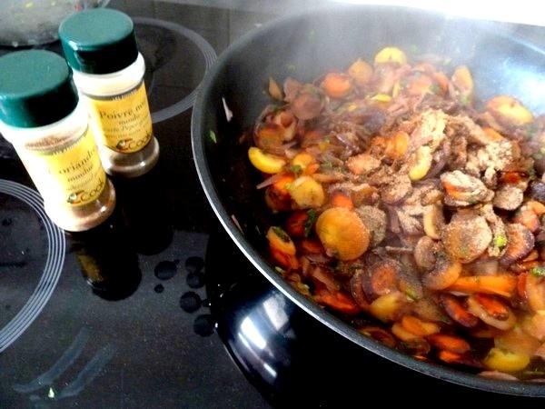 carottes et panisse dorees coriandre poivre