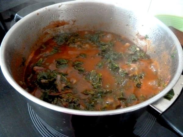 pates sans gluten au chou kale jus tomates