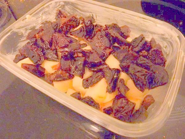 crumble poire pruneaux parsemer