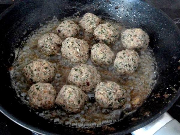 falafels aux haricots graines de lin persil cuisson