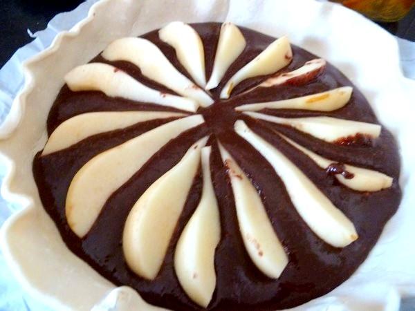 galette aux noisettes chocolat poires disposer
