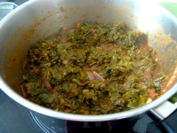 pates sans gluten au chou kale verdure epaisse