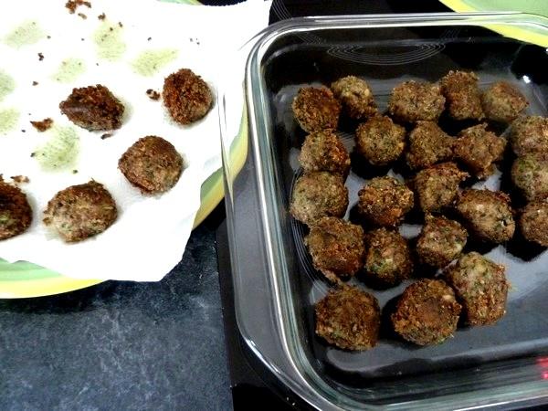falafels aux haricots graines de lin persil eponger huile