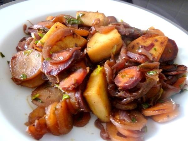 carottes et panisse dorees dresser