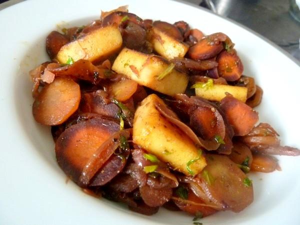 carottes et panisse dorees servir
