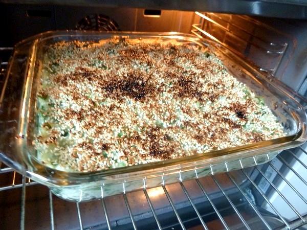 chou-fleur epinards gratines au sesame grill