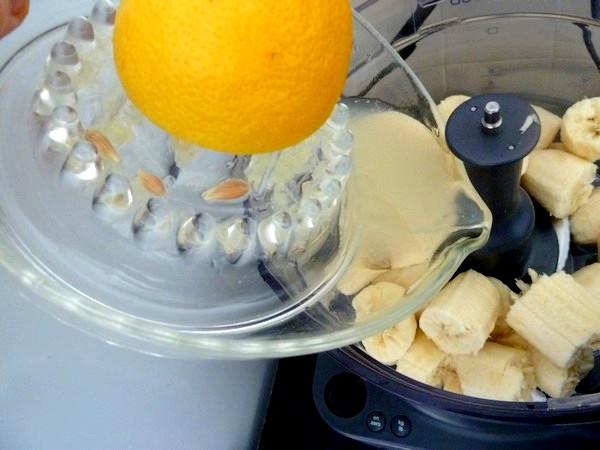 kiwis a la creme de banane citron jus