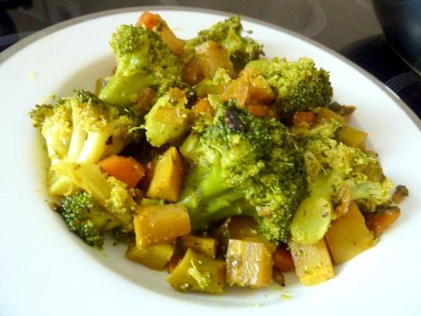 wok brocolis citronnes dresser