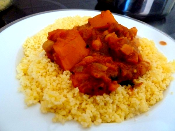couscous vegan courge musquee pois chiches deguster