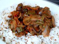 champignons a la tomate et riz sesame deguster