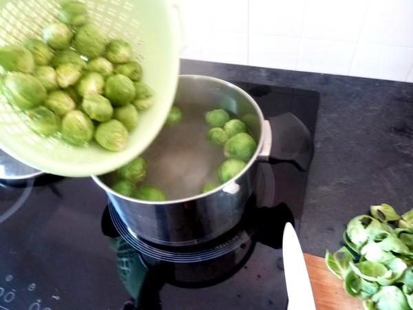 choux de bruxelles polenta spiruline blanchir