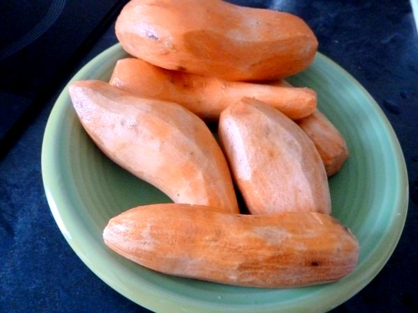 haricots verts patates douces au tofu peler
