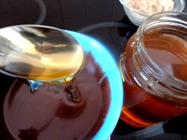 galette aux noisettes chocolat poires miel
