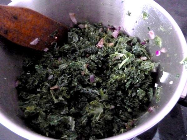 pates sans gluten au chou kale retourner