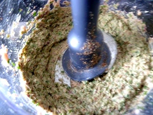 falafels aux haricots graines de lin persil pate mixee