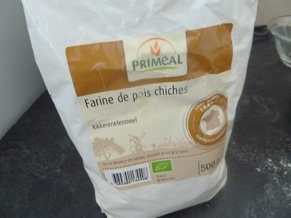 pains farine de pois chiche et aubergines farine