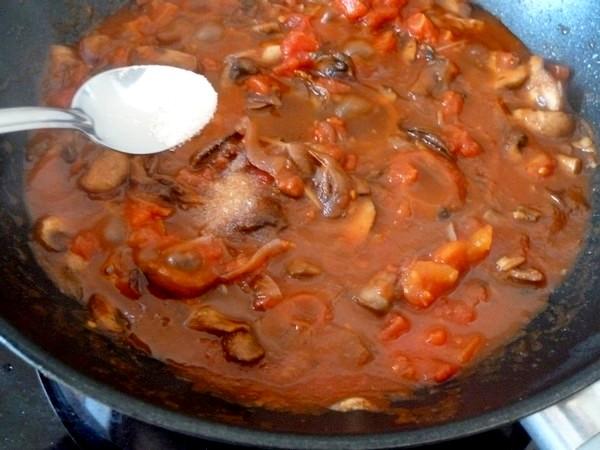 champignons a la tomate et riz sesame sel