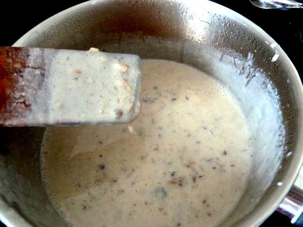 chou-fleur patate douce creme champignons sauce cremeuse