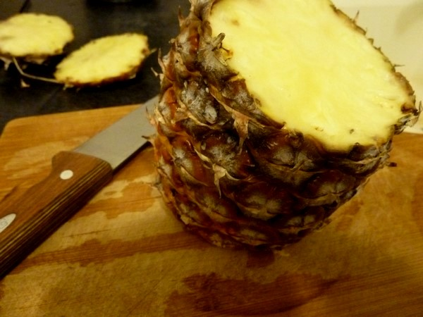 ananas crumble coco peler