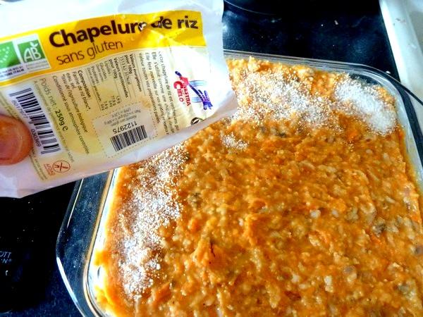 chou-fleur patate douce creme champignons chapelure riz beurre