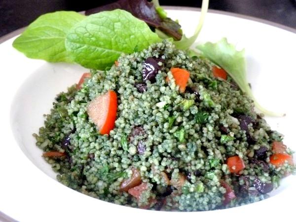 green taboule spiruline servir frais
