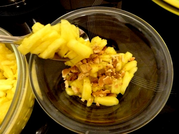ananas crumble coco couche suite