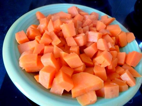 chou rouge aux aromates et patates douces 3 minutes cuisson