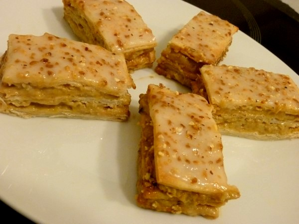 millefeuille noisette praline 5 pieces