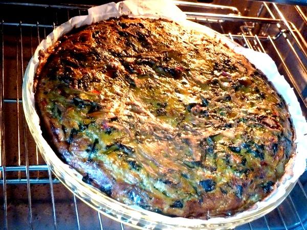 tarte aux graines blettes et oignon rouge 30 min 200 degres