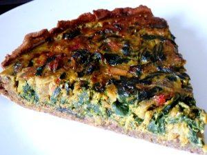 tarte aux graines blettes et oignon rouge servir chaud ou froid