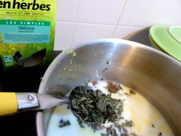 creme patissiere coco citron melisse infusion