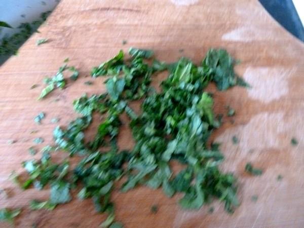 feuilles salade pamplemousse chinois emincer menthe