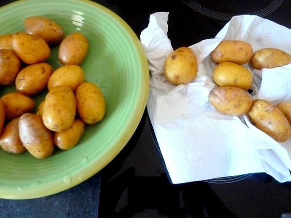 chou romanesco aux pommes grenaille essuyer