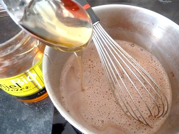creme biscuitee au cacao miel