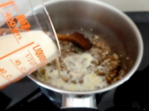 chou-fleur patate douce creme champignons lait amande soja