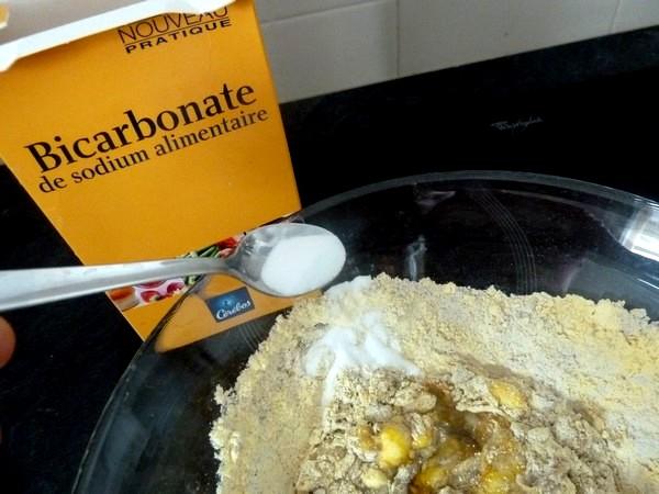 chou kale en beignets bicarbonate