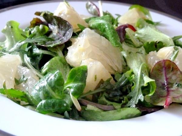 feuilles salade pamplemousse chinois dresser