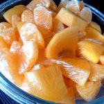 Salade kaki-mandarines