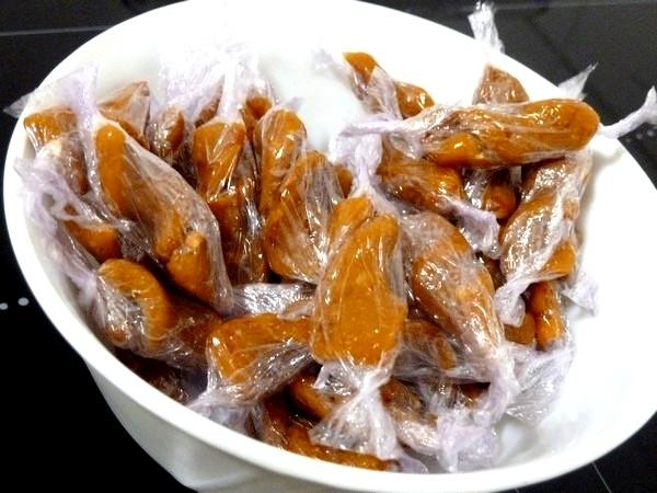 fusillis de caramels mou orange pralin