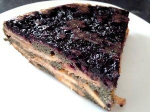 gâteau alcalin pommes myrtilles